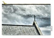 Cross Against An Angry Sky Carry-all Pouch