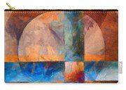 Cross And Circle Abstract Carry-all Pouch