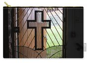 Cross On Church Door Open To Prison Yard Carry-all Pouch