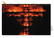 Cross On Fire Carry-all Pouch