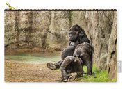 Cross River Pregnant Gorilla And Children Carry-all Pouch