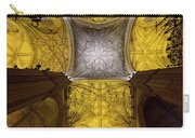 Cross Shaped Nave Ceiling With Pillars And Stained Glass Windows Carry-all Pouch