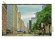 Crossing Chicago's South Michigan Avenue Carry-all Pouch