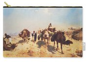 Crossing The Desert Carry-all Pouch by Jean Leon Gerome