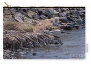 Crossing The Mara River Carry-all Pouch