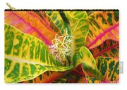 Croton Leaves Carry-all Pouch