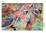 Croton Tropical Art Print Carry-all Pouch