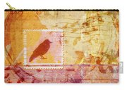 Crow In Orange And Pink Carry-all Pouch