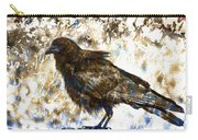 Crow On Blue Rocks Carry-all Pouch