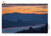 Crown Point And Beacon Rock At Dawn Carry-all Pouch