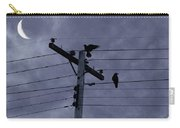 Crows And A Crescent Moon Carry-all Pouch