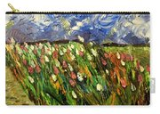 Crows Flying Over Tulips Carry-all Pouch