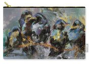 Crows In A Row Carry-all Pouch
