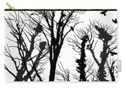 Crows Roost 1 - Black And White Carry-all Pouch
