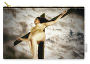 Crucified Woman In Upward View Carry-all Pouch
