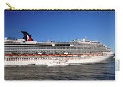 Cruise Ship Is Leaving The Port Carry-all Pouch