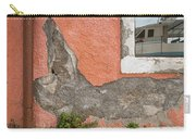 Crumbled Plaster Of An Orange Wall, Reflection Of A Boat In The Window Carry-all Pouch
