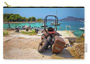 Crushed Tractor By The Sea On Island Prvic Carry-all Pouch