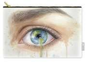 Earth In The Eye Crying Planet Carry-all Pouch