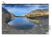 Crypt Lake Gold And Blue Carry-all Pouch