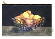 Crystal Bowl With Fruit Carry-all Pouch