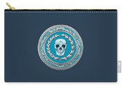 Crystal Human Skull On Blue Carry-all Pouch