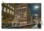 Cta Pulls Into The State-lake Street Station Chicago Illinois Carry-all Pouch