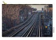 Cta Train Approaching Damen Avenue Station Chicago Illinois Carry-all Pouch