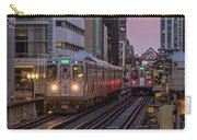 Cta Train On The L At Dusk Chicago Illinois Carry-all Pouch