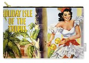 Cuba Holiday Isle Of The Tropics Vintage Poster Carry-all Pouch
