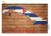 Cuba Rustic Map On Wood Carry-all Pouch