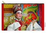 Cultural Opera Actor In Red Carry-all Pouch