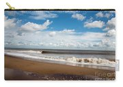 Cumulus Clouds Passing Across The Beach At Skegness Lincolnshire England Carry-all Pouch