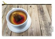 Cup Of Hot Tea On Wood Table Carry-all Pouch