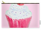 Cupcake Painting On Pink Background Carry-all Pouch