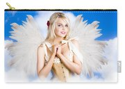 Cupid Angel Of Love Flying High With Fairy Wings Carry-all Pouch