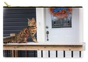 Curious Bengal Cat Carry-all Pouch