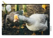 Curious Grey Goose Carry-all Pouch