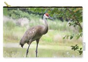Curious Sandhill Crane Carry-all Pouch