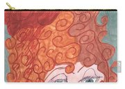Curly Red Hair Carry-all Pouch