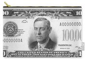 Currency: 100,000 Dollar Bill Carry-all Pouch