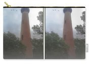 Currituck Beach Light Station - 3d Stereo Crossview Carry-all Pouch