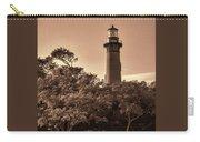 Currituck Beach Lighthouse - Sepia Carry-all Pouch