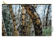 Curved Birch Tree Carry-all Pouch