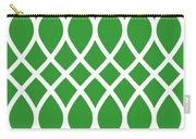 Curved Trellis With Border In Dublin Green Carry-all Pouch