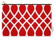 Curved Trellis With Border In Red Carry-all Pouch