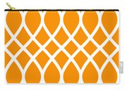 Curved Trellis With Border In Tangerine Carry-all Pouch