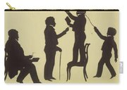 Cut Silhouette Of Four Full Figures 1830 Carry-all Pouch