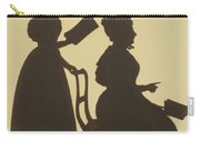 Cut Silhouette Of Two Women Facing Right 1837 Carry-all Pouch
