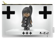 Cute 3d Girl On Shelf In Black Carry-all Pouch